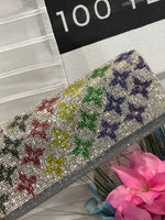 Multi Bling Flower Cluth