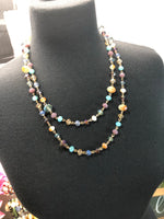 Beaded Crystal Long Necklace