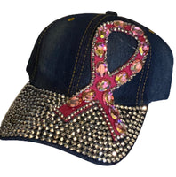Bling Ribbon Pink Hat