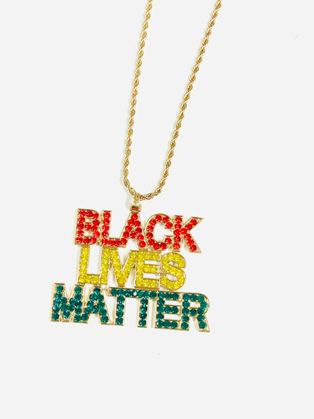 BLACK LIVES MATTER ✊🏻✊🏼✊✊🏽 ✊🏾 ✊🏿 NECKLACE - 029