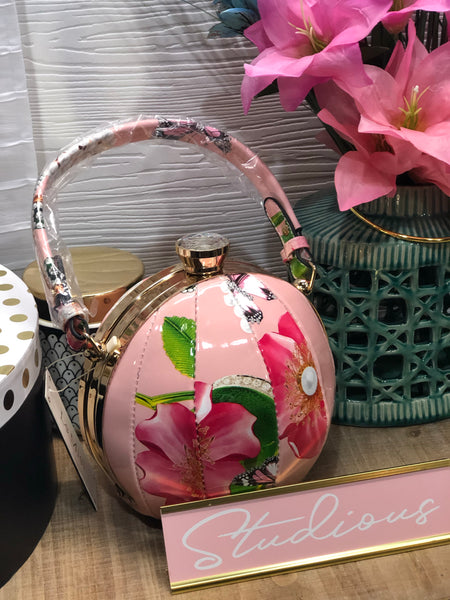 Floral Mini Ball Bag