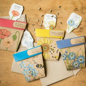 Sow 'n Sow A Gift of Seeds are designer, eco-friendly gifts which cleverly combine a greeting card with a packet of seeds to form a gift that grows.