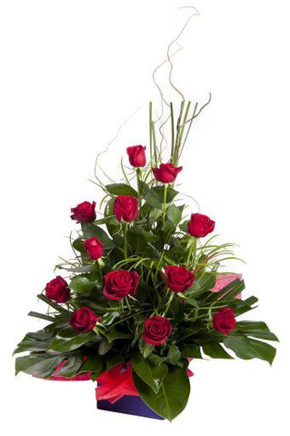 Romantic Roses Box Arrangement