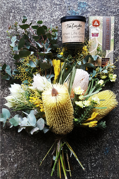 Canberra flower delivery, Jasper & Myrtle Chocolates, Tea Garden Co, Native Flowers, Poetry in Flowers, Gungahlin Florist