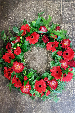 Funeral wreath delivery canberra, funeral flowers,