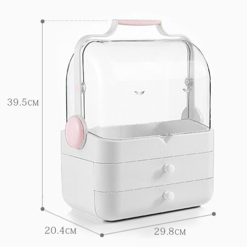 portable ABS material container makeup organizer waterproof dustproof bathroom makeup artist high quality storage neat