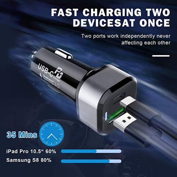 18w usb c car charger