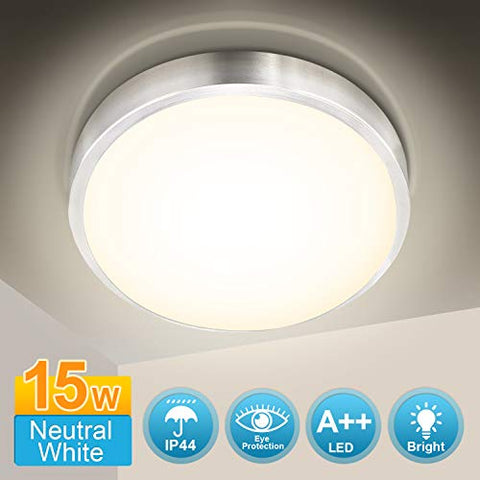 Bathroom Lights Ceiling 15W Neutral White