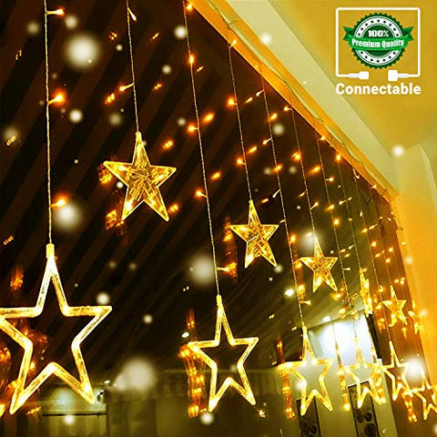 LED 12 Stars Curtain Lights