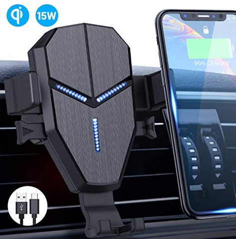 wireless car charger mount 15w