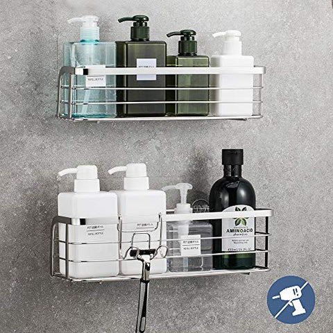 adhesive wall shower shelf