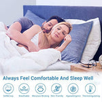 LUXEAR Cooling Pillowcase, Revolutionary Cool-to-Touch Technology, 2 Pack - Standard (20 x 26 inches), Hidden Zipper and Double-Side Design Pillow Covers for Hair and Skin, OEKO-TEX Certified, Q-MAX>0.4, Gray