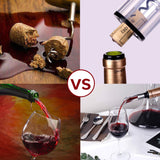 Cordless Electric Wine Opener Set - Quntis Wine cork Bottle Opener - Rechargeable Automatic Battery-Operated Corkscrew with Foil Cutter Wine Pourer Stopper and Charger
