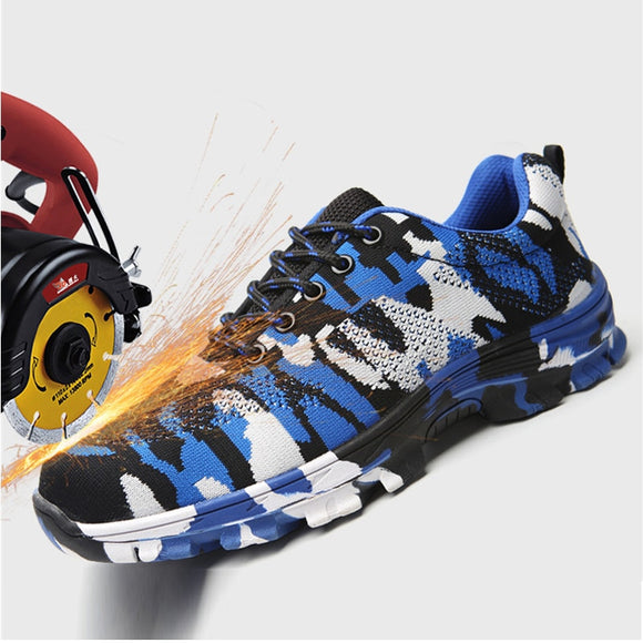 Safety shoes Air-permeable smash - proof puncture - proof  protective Footwear shoes