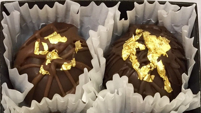 Trophy Truffles -  Dark Chilis (Spicy) Truffle with 24k Edible Gold Leaf