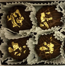 Load image into Gallery viewer, Trophy Truffles -  Double Dutch Chocolate Truffle with 24k Edible Gold Leaf
