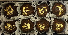 Load image into Gallery viewer, Trophy Truffles -  Salted (made with)Baileys Irish Cream Truffle with 24k Edible Gold Leaf