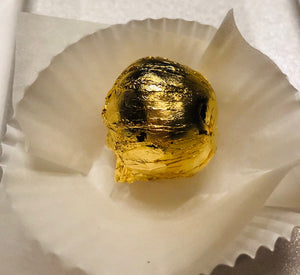 Vegan Truffles wrapped in 24K edible Gold Leaf