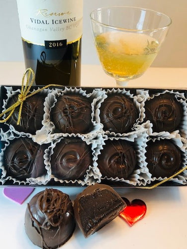 NEW Trophy Truffles -  Made with Mission Hills (2016) Vidal Ice Wine (without Gold)
