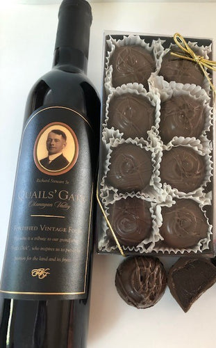 NEW Trophy Truffles -  (without Gold) Made with Quails' Gate Fortified Vintage Foch, Wine Truffle