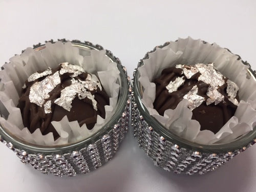 Trophy Truffles - Black Forest Truffle with Edible Silver Leaf