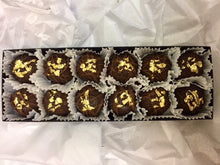 Load image into Gallery viewer, Trophy Truffles -  Dark Chilis (Spicy) Truffle with 24k Edible Gold Leaf