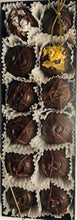 Load image into Gallery viewer, NEW Trophy Truffles -  Made with Quails' Gate Fortified Vintage Foch, Wine Truffle with 2- 24k Edible Gold Leaf