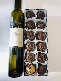 NEW Trophy Truffles -  Made with Mission Hills Vidal Ice Wine Truffle with 2- 24k Edible Gold Leaf