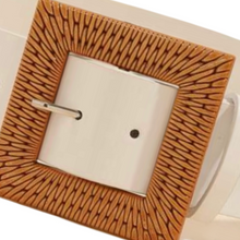 Load image into Gallery viewer, RATTAN BUCKLE WHITE BELT