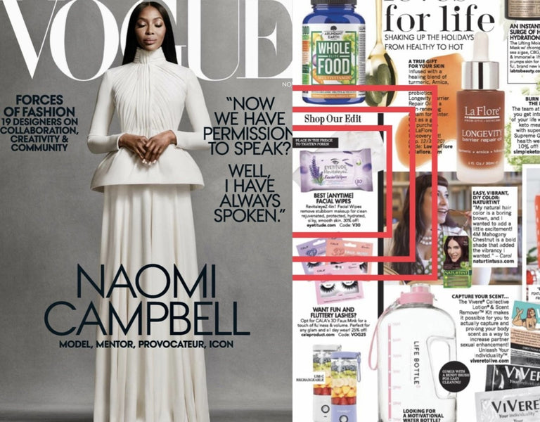 Vogue Magazine - Eyetitude 4 in 1 Wipes for the Holidays!