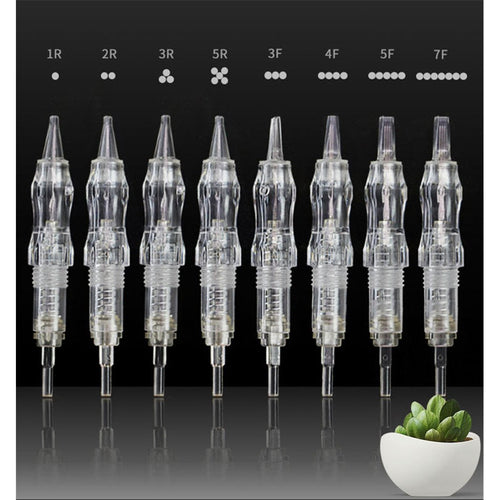 10PCS Tattoo Needle Catridges for Permanent Makeup/Small Tattoo & Micro Needling. 24 Needle Configuration Options