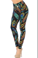 Buttery Soft Florid Feather Leggings
