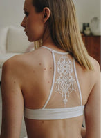 Tattoo Back White Bralette XS/S