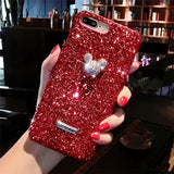 Luxury Bling Glitter Case For Iphone X XS MAX XR 8 8 Plus 7 7 Plus Case Crystal Bee For Iphone 6 6S Plus 5 5S SE Case - Itstechy.com