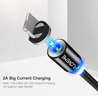 LED Magnetic Cable For Lightning Type C Phone Cable 1m 2A Fast Charge Magnet Charger - Itstechy.com