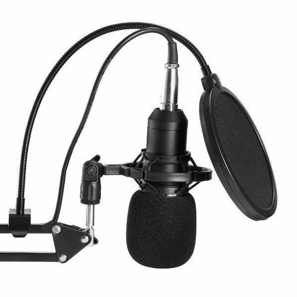 Professional Condenser Audio 3.5mm Wired BM800 Studio Microphone Vocal Recording KTV Karaoke Microphone Mic W/Stand For Computer - Itstechy.com