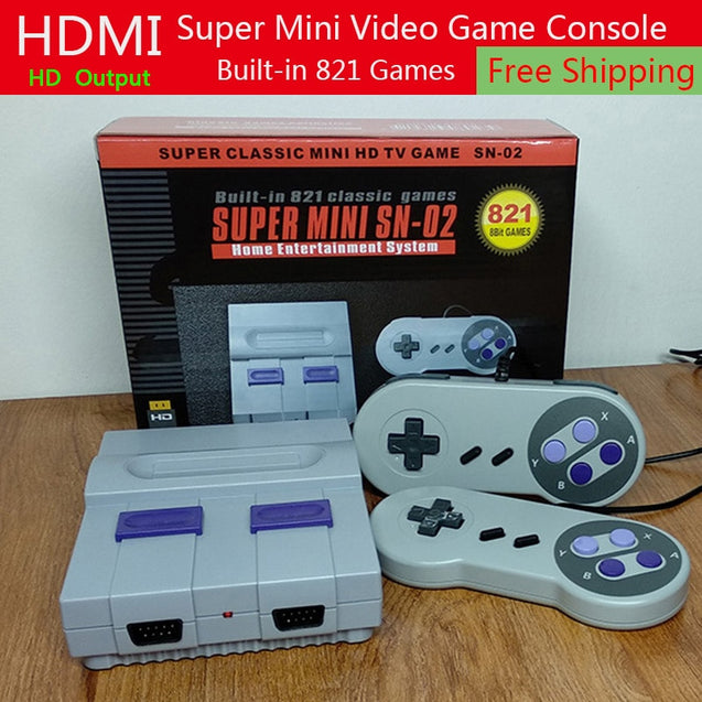 New Mini TV Game Console HDMI Output 8Bit Retro Video Game Console Built-In 821 Different Classic Games Handheld Gaming Player - Itstechy.com