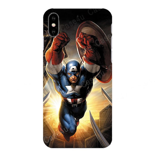 Marvel Avengers Captain America Shield Superhero Case for iPhone 6s 7 8 Plus X 10 XS Max XR Silicone Rubber Cover Ironman coque - Itstechy.com