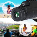 Lens for phone 40X60 Zoom for Smartphone Monocular Telescope Scope Camera Camping Hiking Fishing with Compass Phone Clip Tripod - Itstechy.com