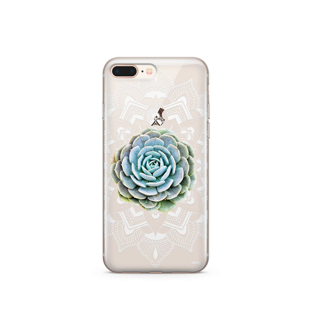 Succulent Mandala - Clear Case Cover - Itstechy.com