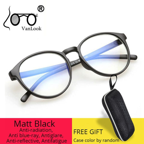 Anti Blue Ray Radiation Computer Glasses Blue Light Blocking For Women Men Transparent