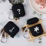 OTTWN For Apple Airpods 1 2 Silicone Case PC Cute Smiley Face Simple Earphone Hard Case Protection Portable Earphone Case Scrub - Itstechy.com