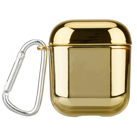 OTTWN For AirPods Case luxury Gold Plating hard Cover Wireless Earphone Case For iPhone headphone Air pods 1 2 storage box