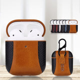 For Airpods 2 Bluetooth Wireless Headset Business PU Leather Headphone Box PC AirPod 2 Charging Case Housing Cover  Headset case