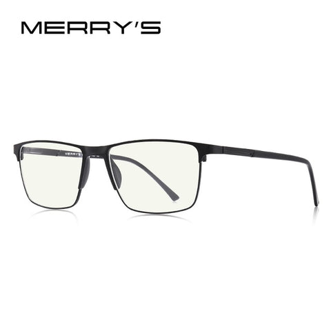 MERRYS DESIGN Men Anti Blue Ray Light Blocking Glasses UV400 Protection Glasses For Computer Titanium Alloy Glasses S2001FLG