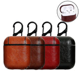 Airpods Cases For Apple Airpod 1 Airpod 2 Strap Leather with Buttons Headphone Case Earphone airpods leather case Accessories