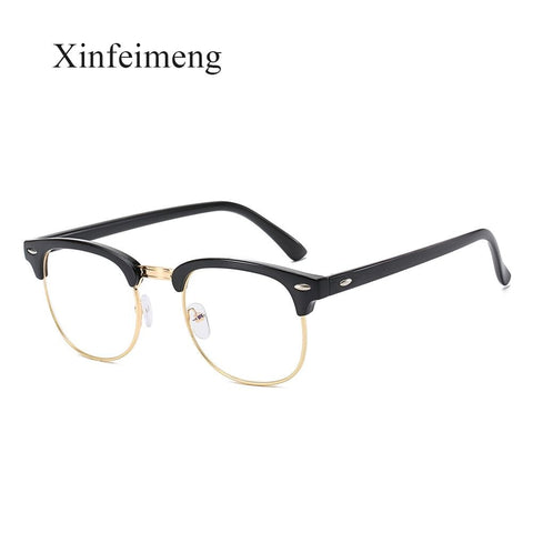 Vintage Semi-Rimless Anti Blue Rays Computer Glasses Men Blue Light Gaming Glasses Protection Fashion Clear Lens Glasses Oculos