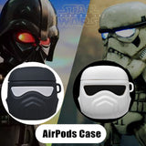 For Apple AirPods 1 2 Earphone Shockproof Case Star Wars Liquid Silicone Protective Sleeve Compatible Soft Case AirPods Case - Itstechy.com