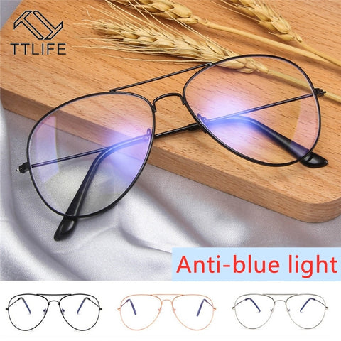 TTLIFE Computer Blue Ray Glasses Anti Blue Light Eyeglasses Optical Eye Spectacle UV Blocking Gaming Filter Eyewear YJHH0308