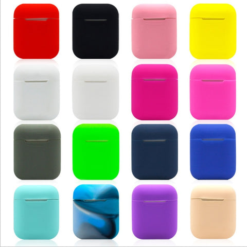 Soft Silicone Case Earphones for Box  Cover for Pods Bluetooth Air Bag  Wireless Pods Earphone Ear Protective case Airpods